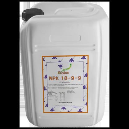 Indigrow Product Fusion NPK (Nitrogen, Phosphorus, Potassium) 18-9-9 10Litres