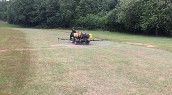The Worcestershire Golf Club before spraying