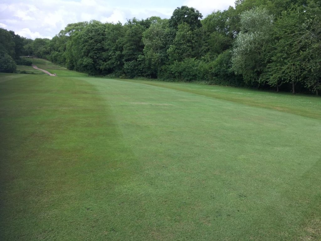 The Worcestershire Golf Club after spraying