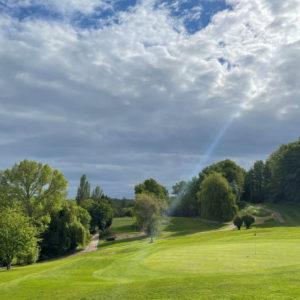 The green of Boyce Hill Golf Club in Essex